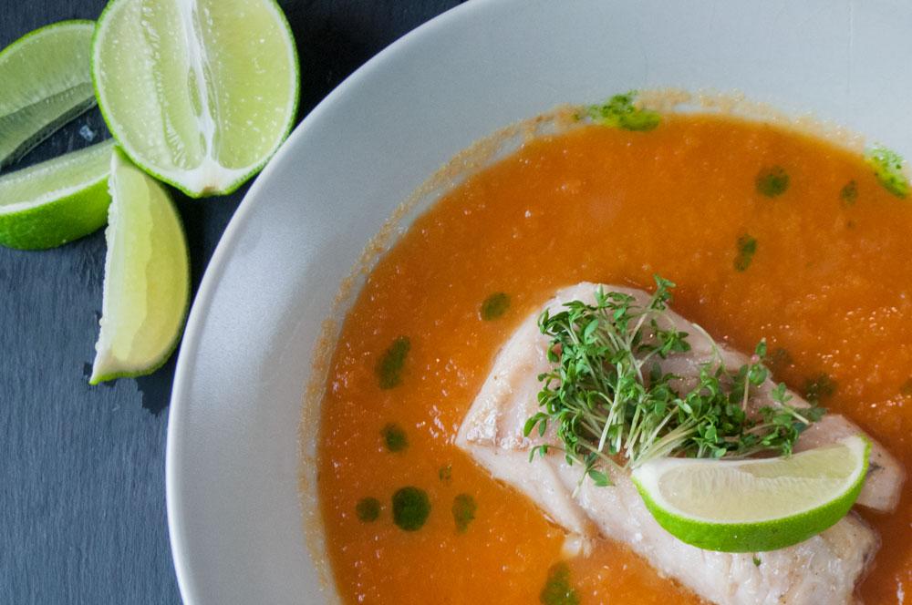 Gulerodssuppe med Torsk