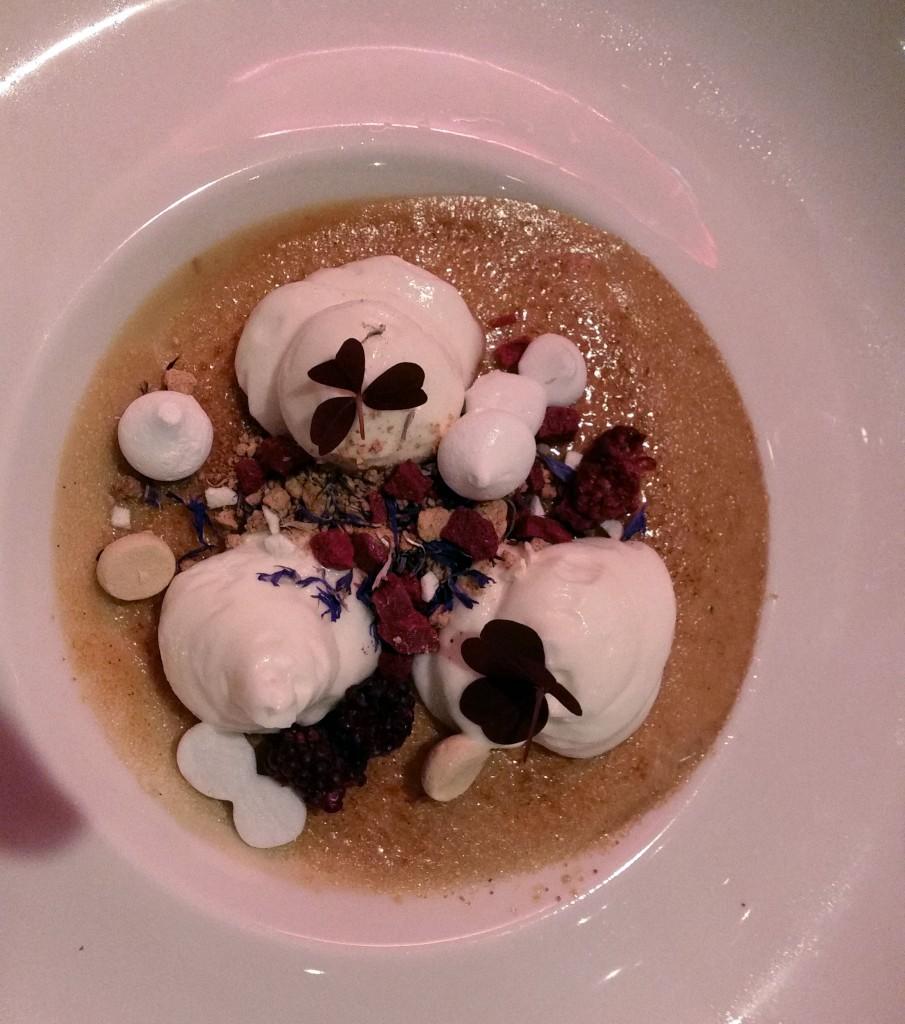 Dessert fra restaurant NO|8 - Hotel Svanen, Billund