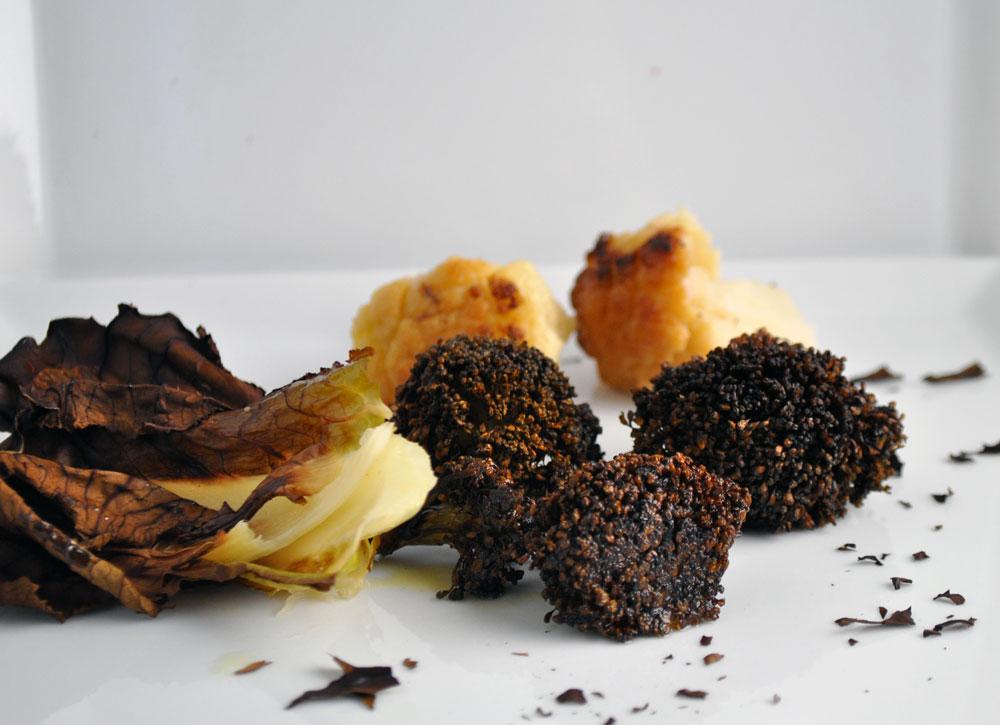 Brændt Blomkål uden spild