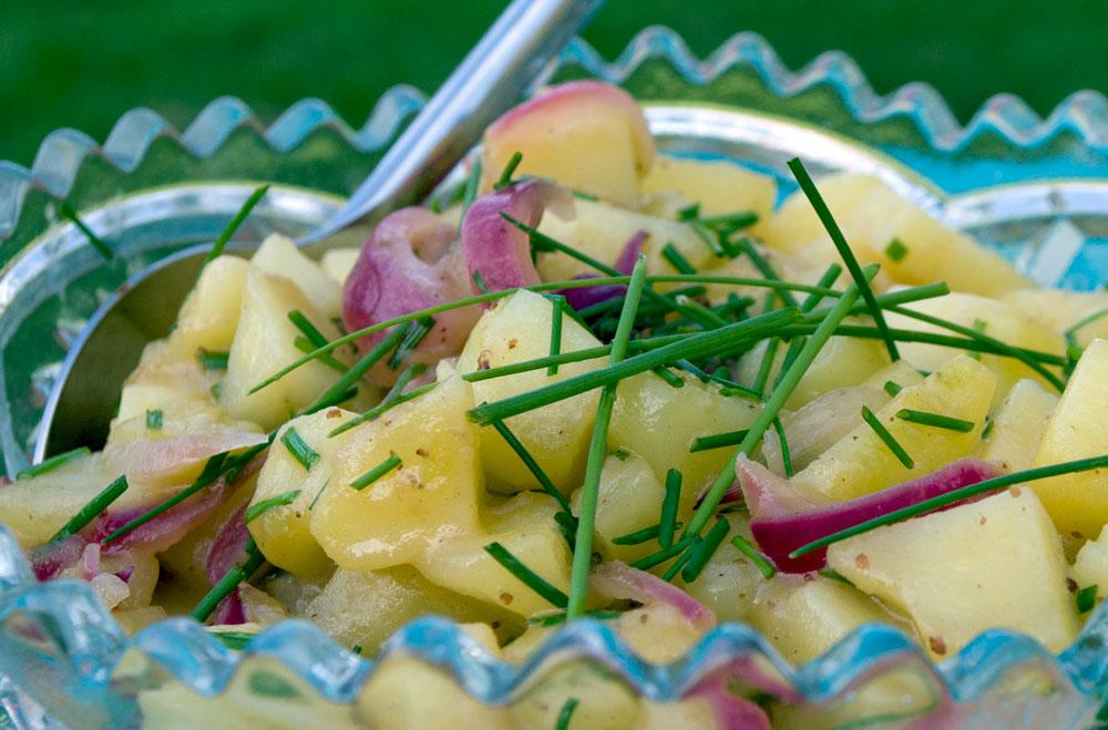 Sur-sød Kartoffelsalat