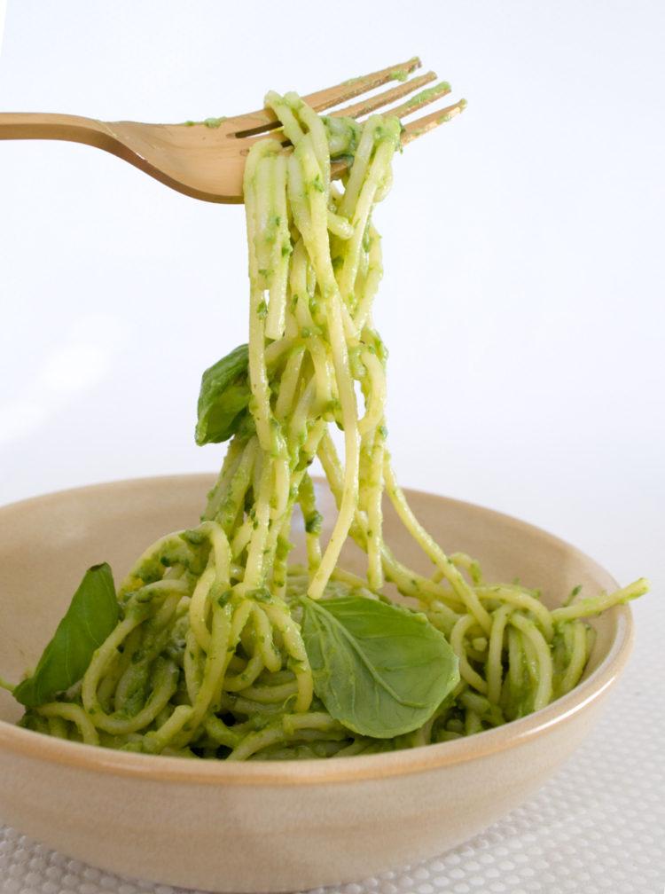 Cremet grøn pasta