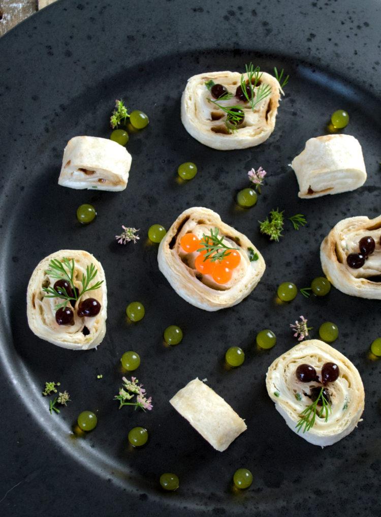 Tortillahaps med ostecreme