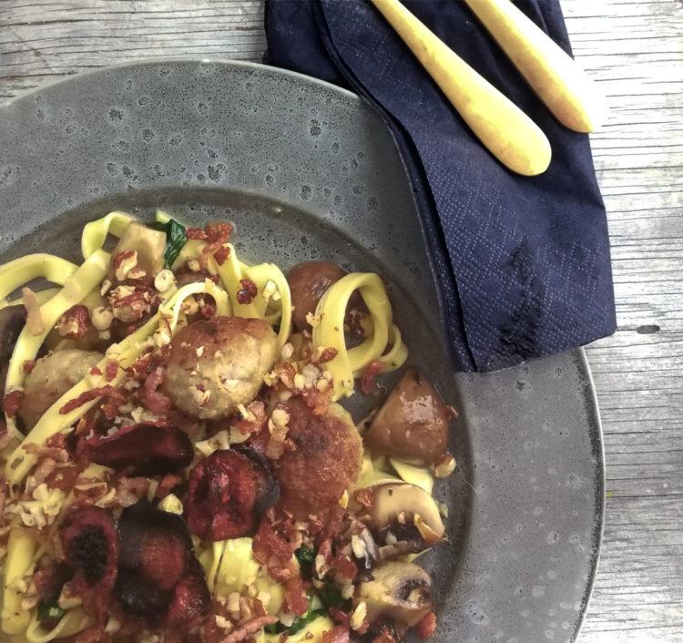 Efterårs Pasta med svampe
