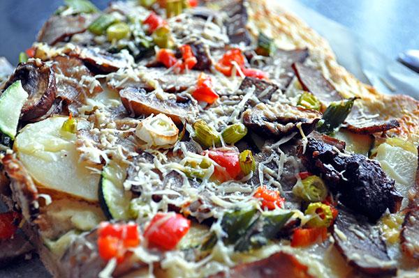 Pizza med rester