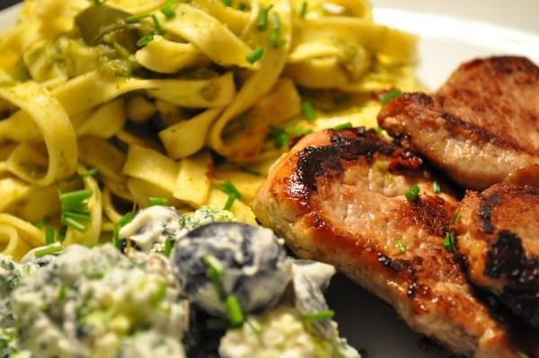 Porre-pasta og Broccolisalat