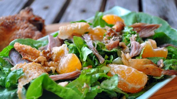 Salat med rester af Mortens And