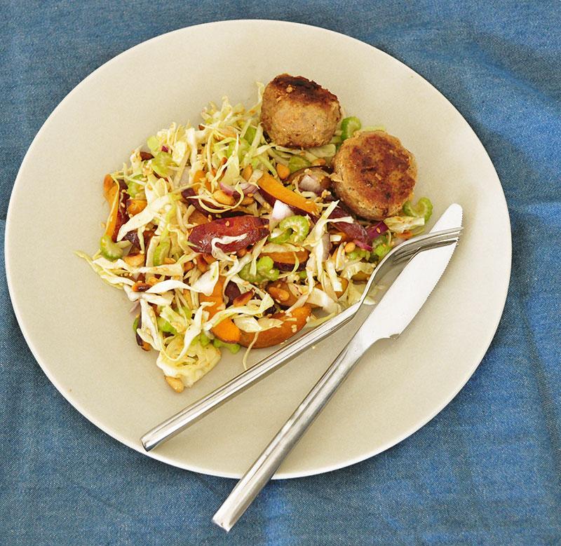 salat-blommer-frikadeller