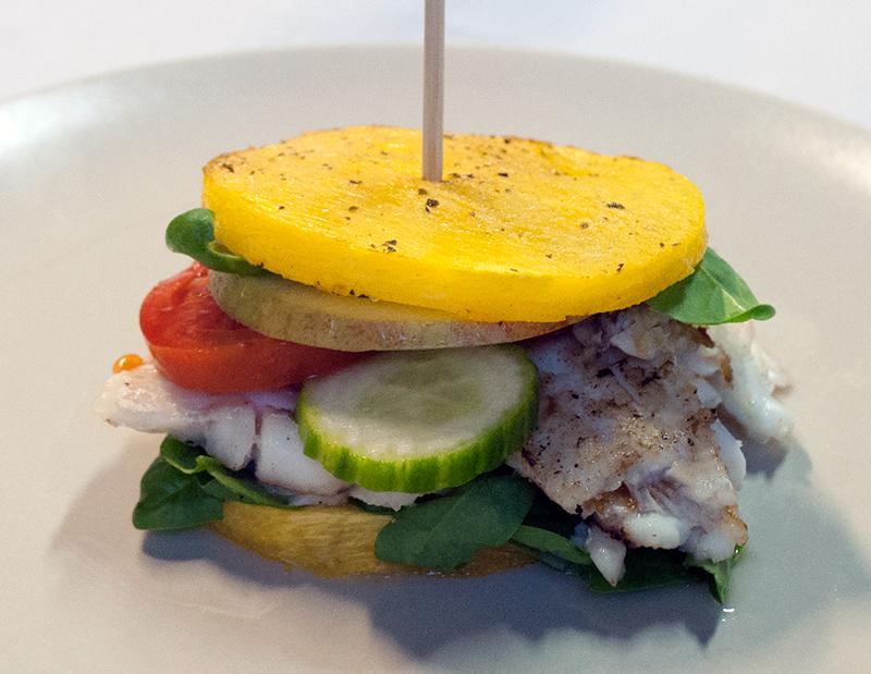 Græskar-Fiske-Burger