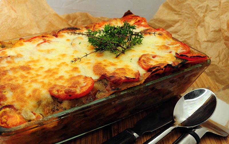 Lasagnen-klar