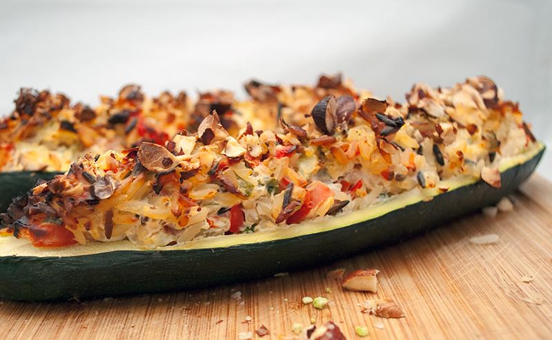 fyldte squash vegetar