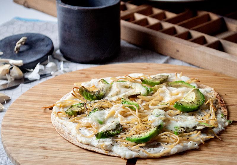 Pizza med Blomkålscreme