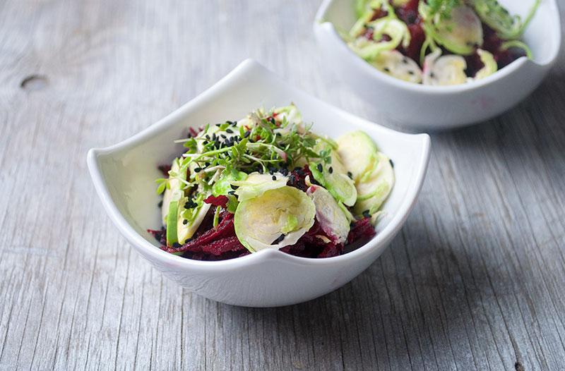 Enkel salat med Rødbeder