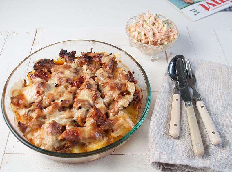 Kartoffel-Pulled-Pork og Coleslaw