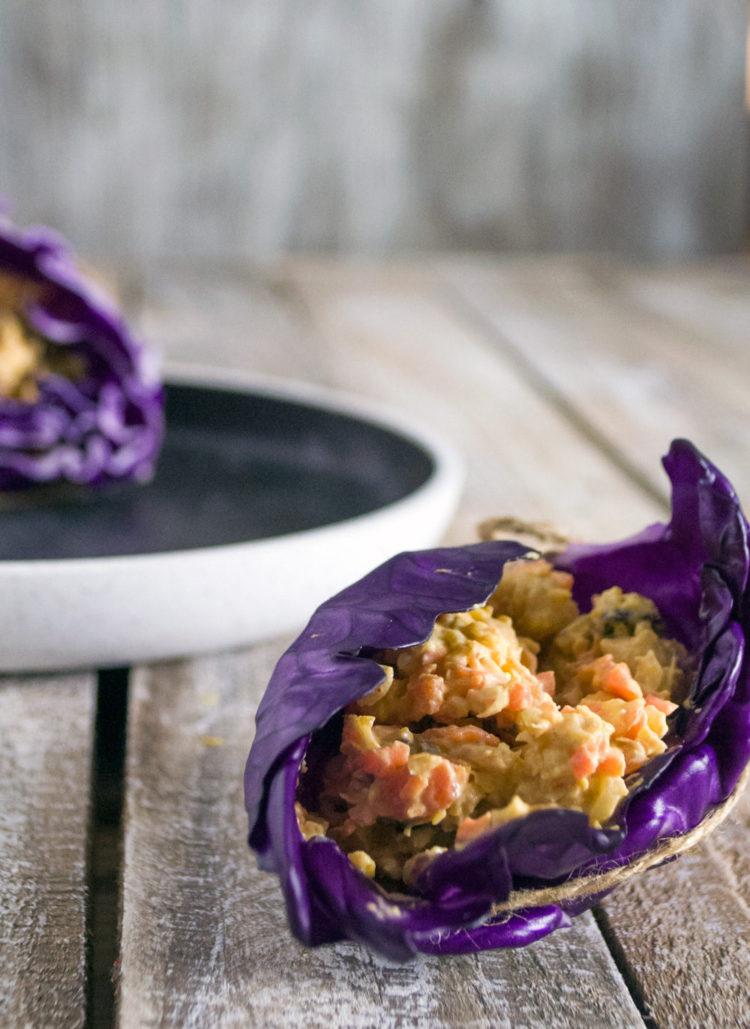 Kålwraps med Kikærtesalat