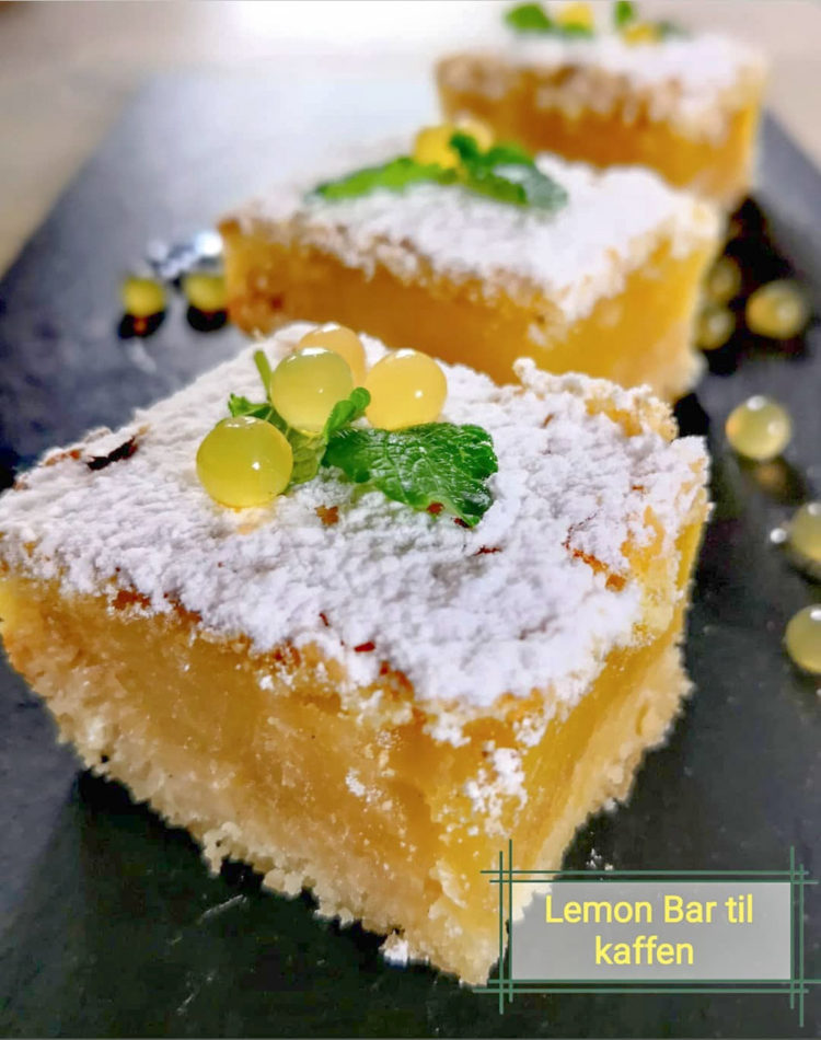 Lemon bars eller Citronsnitter