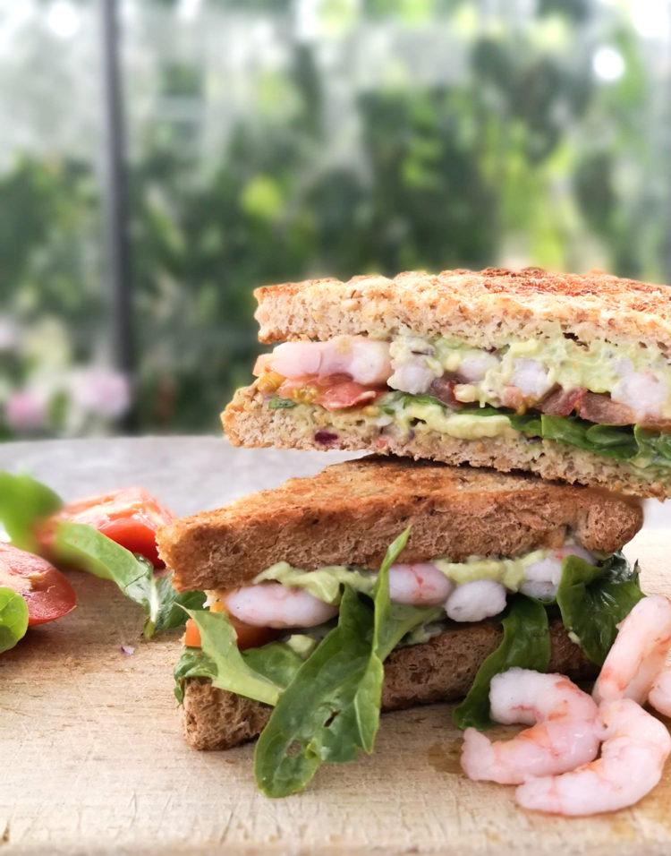 Rejesandwich med Guacamole