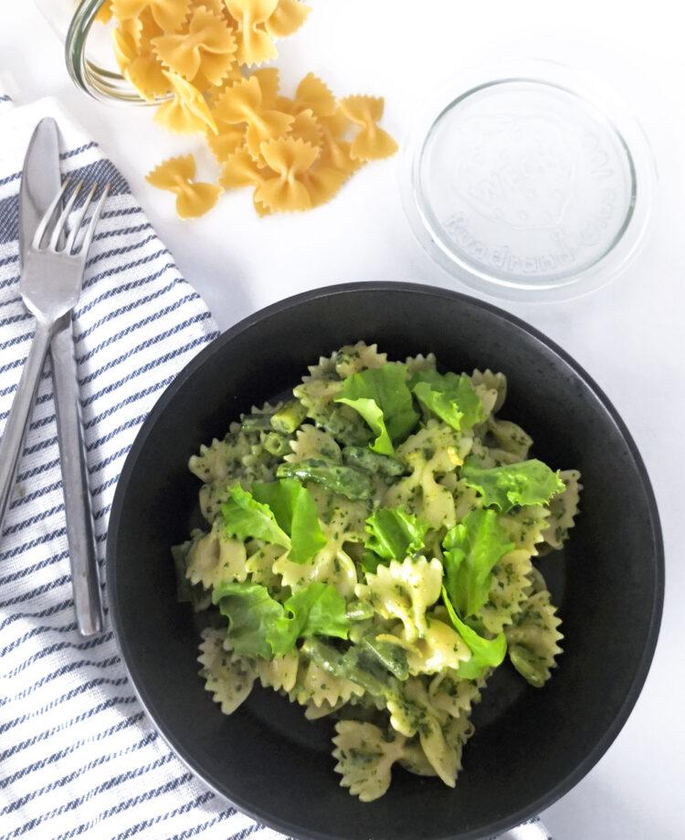 Pasta med grønt og balsamico