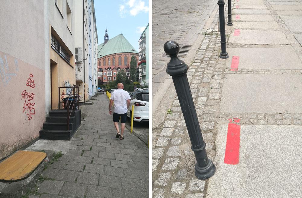 rød rute i Stettin Polen