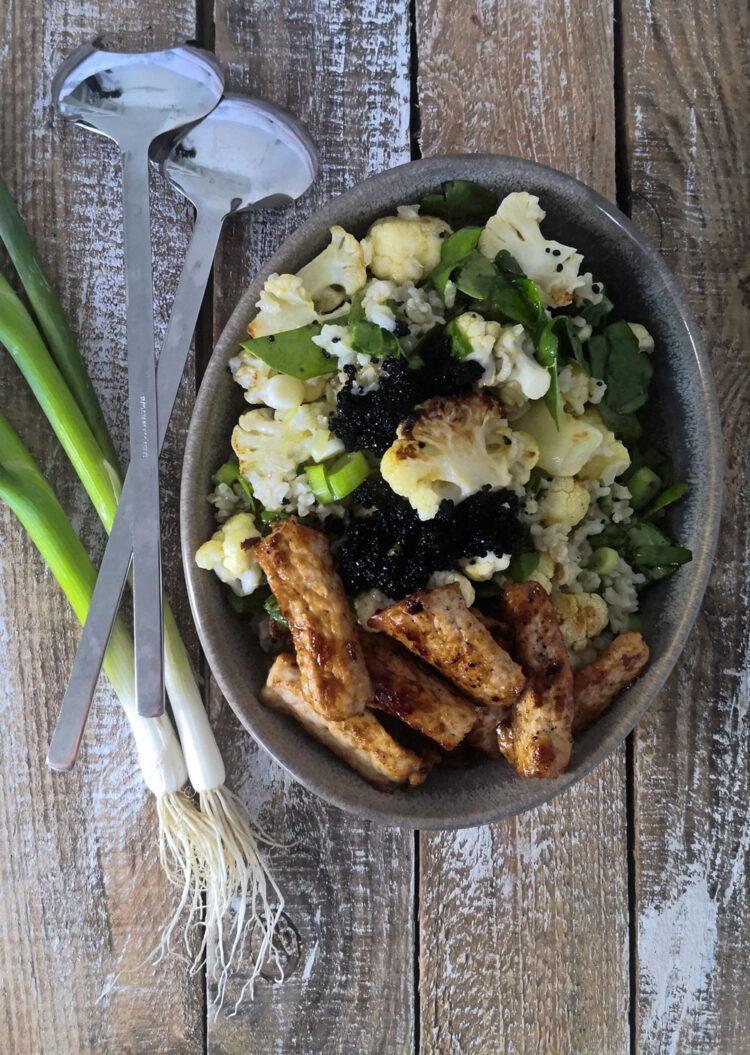 Salat med blomkål