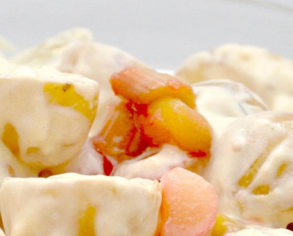 Kartoffelsalat med rabarber