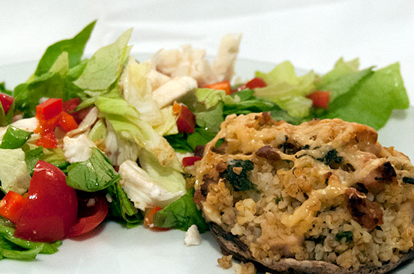 Portobello-med-kylling